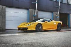 Yellow Ferrari 458 Italia Sports Car royalty free stock image