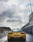 Yellow Ferrari Laferrari on Road royalty free stock photo