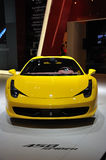 Yellow Ferrari 458 spider Stock Photos