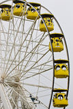 Yellow ferris wheel Stock Images
