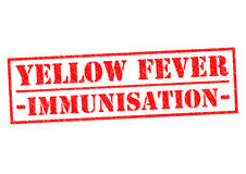 YELLOW FEVER IMMUNISATION. Red Rubber Stamp over a white background Stock Image