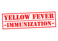 YELLOW FEVER IMMUNIZATION. Red Rubber Stamp over a white background Stock Photos