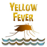 Yellow Fever Mosquito, Standing Water. Graphic illustration isolated on white background. EPS8 compatible Royalty Free Stock Photos