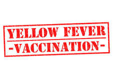YELLOW FEVER VACCINATION Royalty Free Stock Photos