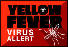 Yellow fewer virus allert vector outline Royalty Free Stock Photos
