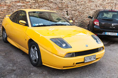 Yellow Fiat Coupe  or type 175 sports car Royalty Free Stock Photo
