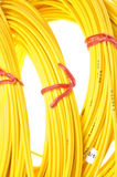 Yellow fiber optic cables Royalty Free Stock Photography