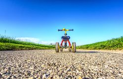 Yellow, Field, Sky, Road Stock Images