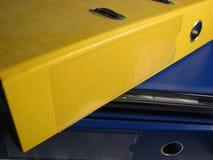 Yellow file stock image