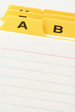 Yellow file divider Royalty Free Stock Photography