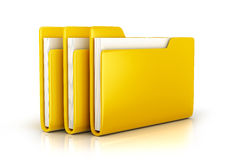 Yellow file folder. 3d illustration Stock Photos