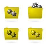 Yellow file folder icon isolated. On white Royalty Free Stock Images