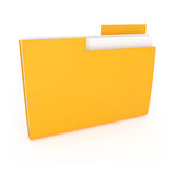 Yellow File Folder isolated on white. 3d illustration Royalty Free Stock Images