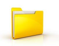 Yellow file folder. On white background Royalty Free Stock Photo