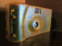 Yellow film camera Stock Image