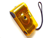 Yellow film camera Royalty Free Stock Photo