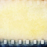 Yellow film strip background Royalty Free Stock Images