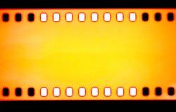 Yellow Film strip, macro shot Stock Photography