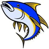 Yellow fin Tuna Icon Royalty Free Stock Photos