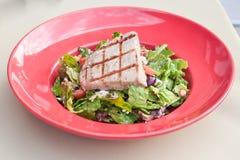 Yellow fin tuna salad Royalty Free Stock Photo