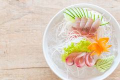 yellow fin tuna sashimi Stock Photos