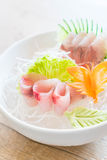 yellow fin tuna sashimi Stock Photography