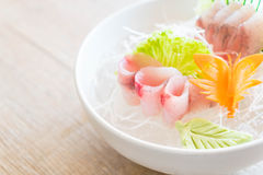 Yellow fin tuna sashimi Stock Images