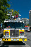 Yellow fire engine - Victoria, BC, Canada Stock Photos