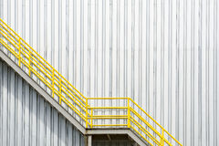 The yellow fire escape stair Royalty Free Stock Image