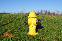 Yellow Fire Hydrant Royalty Free Stock Photos
