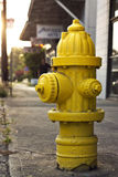 Yellow fire hydrant Stock Image