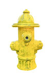 Yellow fire hydrant isolated on white Stock Image