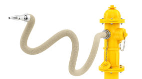 Yellow fire hydrant Royalty Free Stock Photography