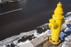 Yellow Fire pumps on the street Royalty Free Stock Image