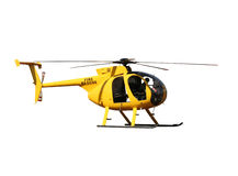 Yellow fire/rescue helicopter. Generic yellow helicopter used for fire fighting and rescue operations, isolated Stock Photography