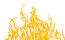 Yellow fire sparks isolated on white Stock Images