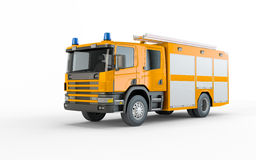 Yellow Firetruck. Isolated on a white background Royalty Free Stock Image