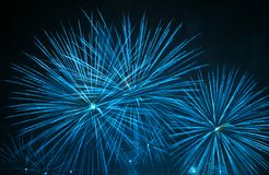 Yellow firework stars Royalty Free Stock Images