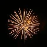 Yellow Fireworks Stock Image