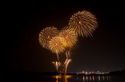 Yellow fireworks Royalty Free Stock Photos