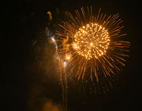 Yellow fireworks Royalty Free Stock Photo