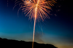 Yellow Fireworks Display during Nigh Time Stock Photo
