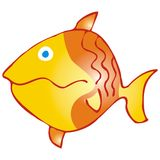 The yellow fish Stock Image