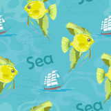 Yellow fish Stock Photos