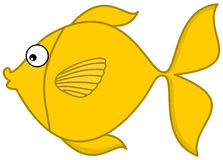 A yellow fish's profile Stock Photography