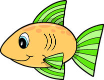 Yellow fish Vector Illustration Stock Photos