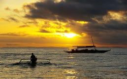 Yellow Fisher Royalty Free Stock Photo