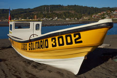 Yellow Fishing Boat Stock Photo