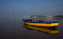 Yellow fishing boat Royalty Free Stock Images