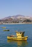 Yellow Fishing Boats Stock Photos